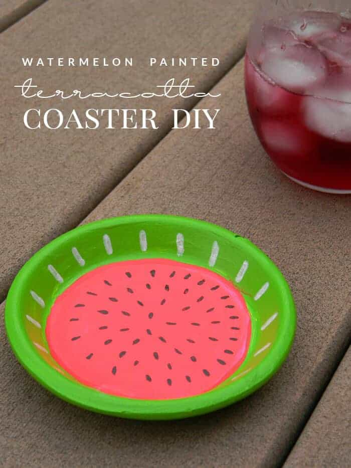 Watermelon Painted Coasters by Hello Nature