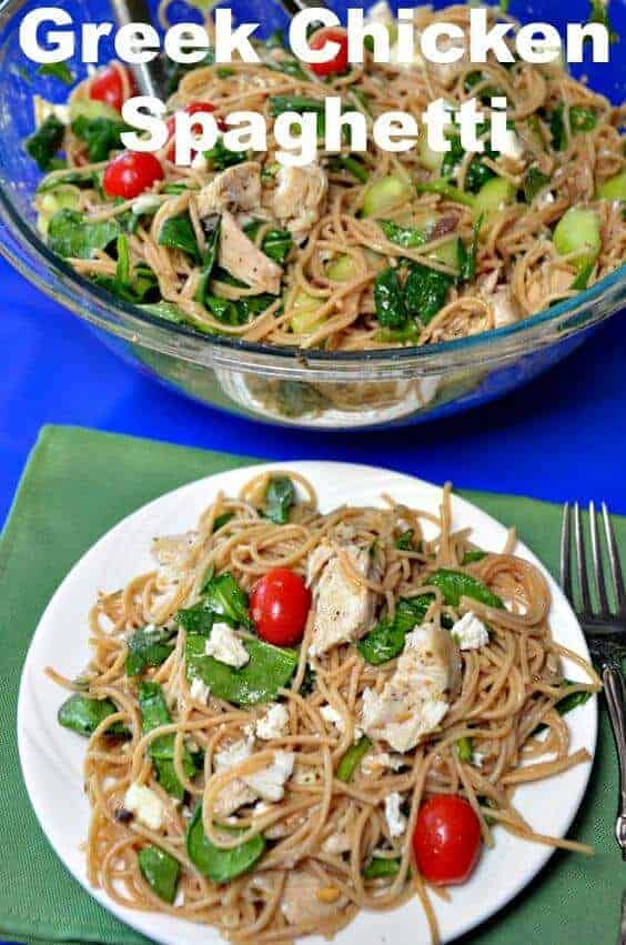 Greek Chicken Spaghetti