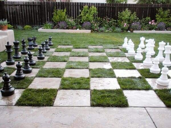 chessboard patio