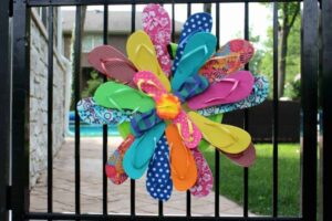 flip flop wreath DIY