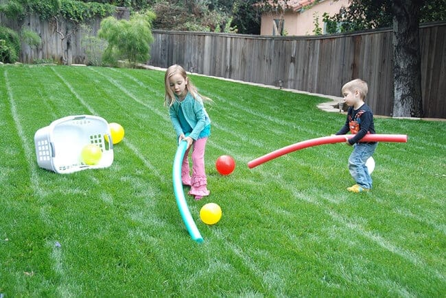 DIY outdoor field hockey