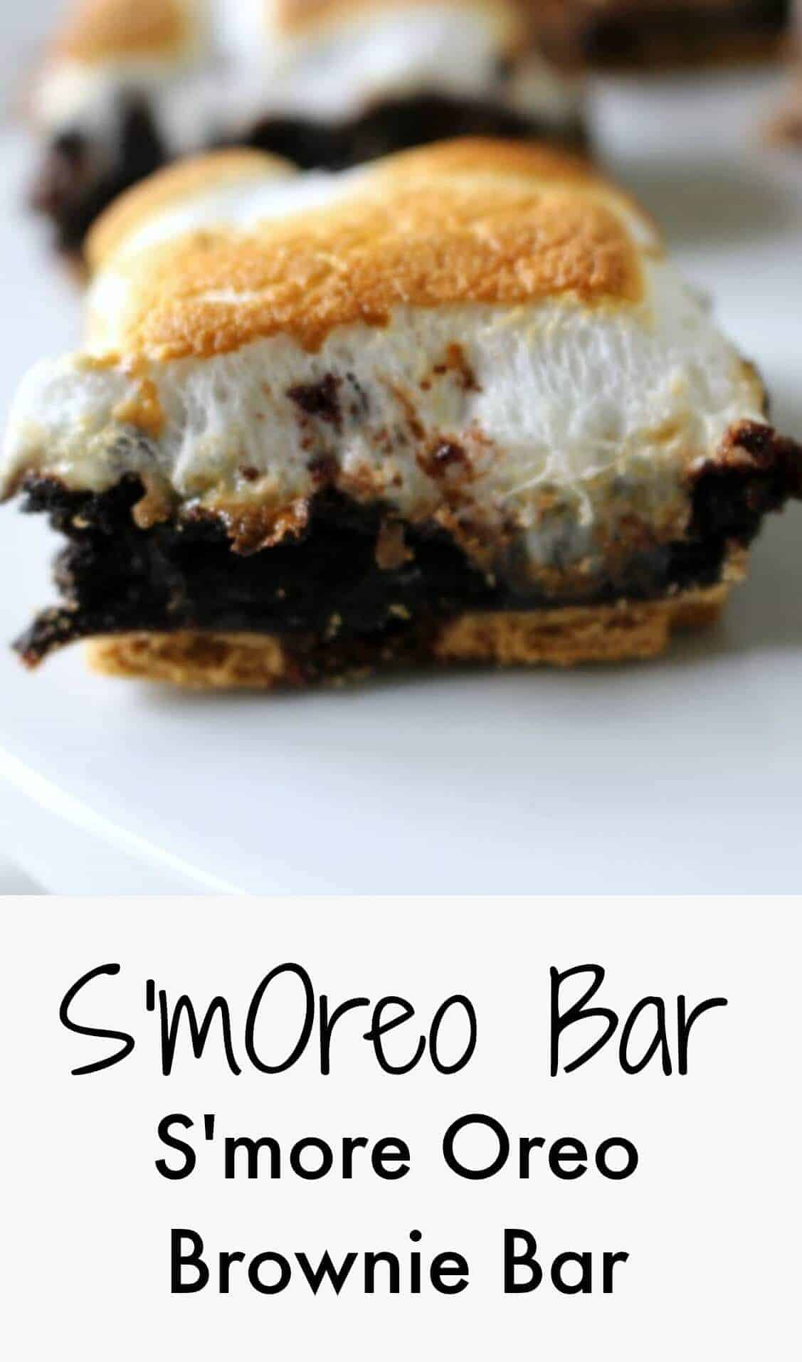smore oreo brownie bar - SmOreo