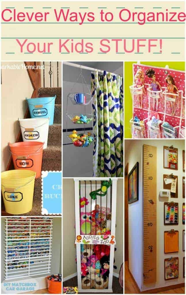 Clever ways to organize your kids stuff!!
