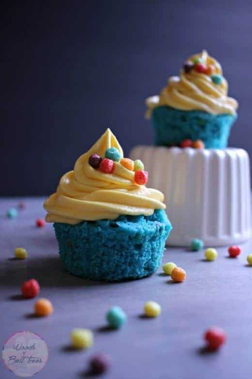 Fruity Minion Cupcakes by Woods of Bell Trees