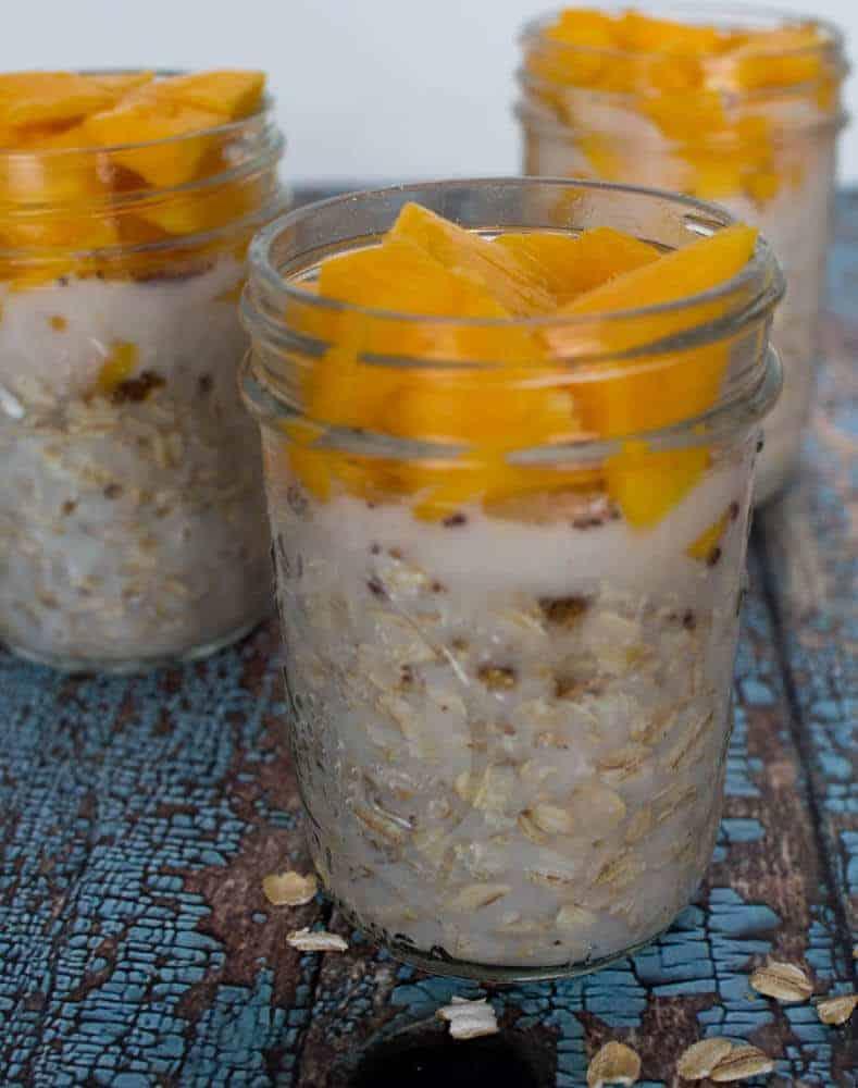 Mango Overnigh Oatmeal by Upstate Ramblings