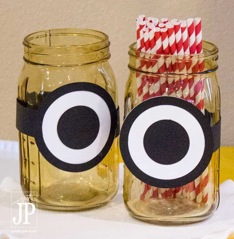 minion mason jars by Jennifer priest