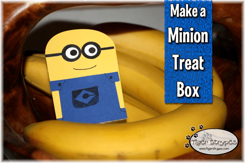 Minion Treat Box with Tiger Strypes