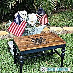 patriotic bench by Unique Junktique