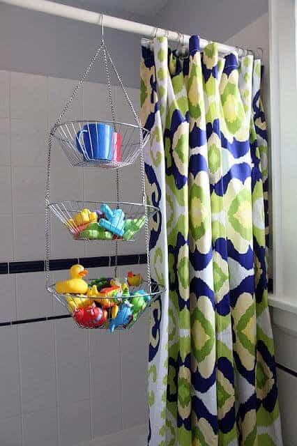 DIY Bath Toy Organizer