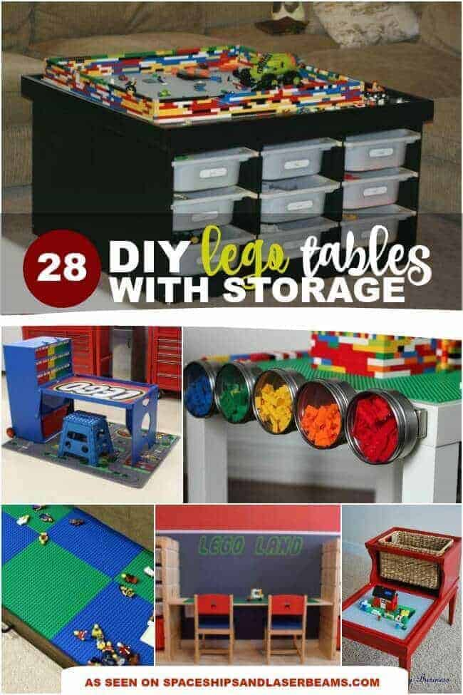 DIY Lego tables with storage ideas from Spaceships and Laser Beams