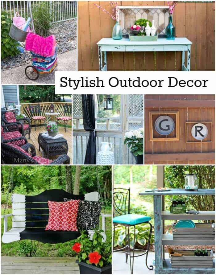 Outdoor Decorating Ideas featured on Princess Pinky Girl