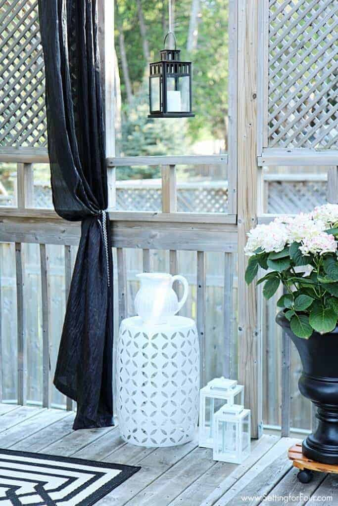 summer deck decor by Setting for Four