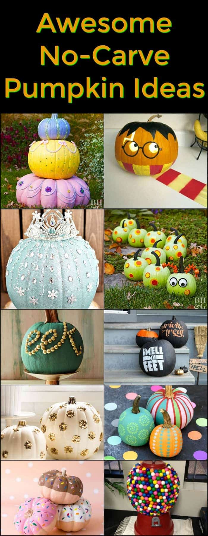 Awesome No Carve Pumpkin Ideas