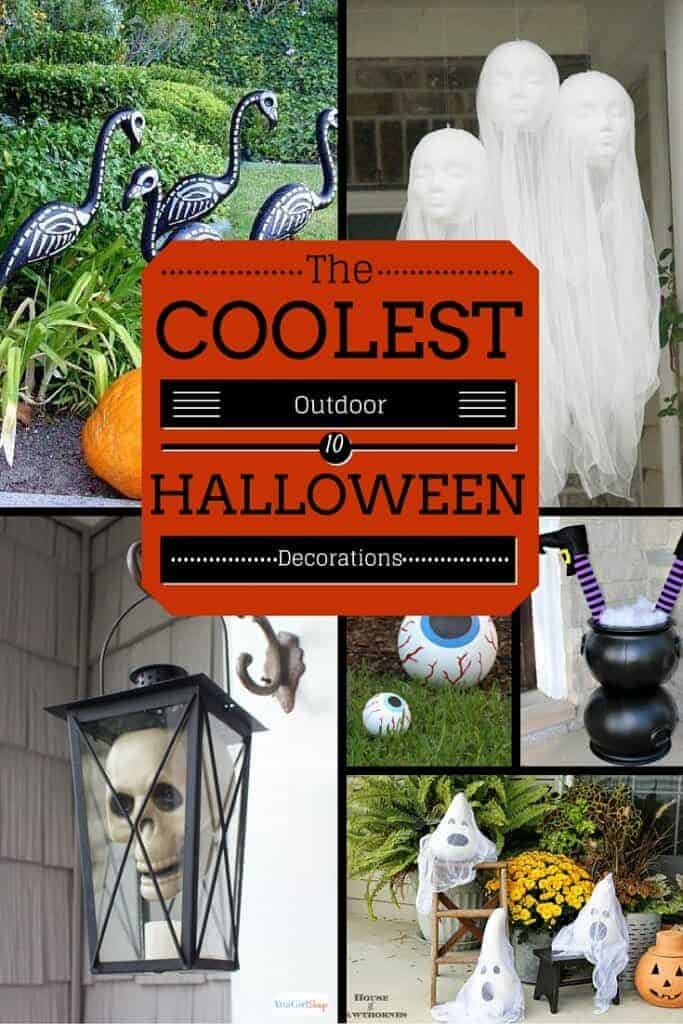 Halloween is just around the corner and these Easy Outdoor Halloween Decorations will make your house the envy of the neighborhood!