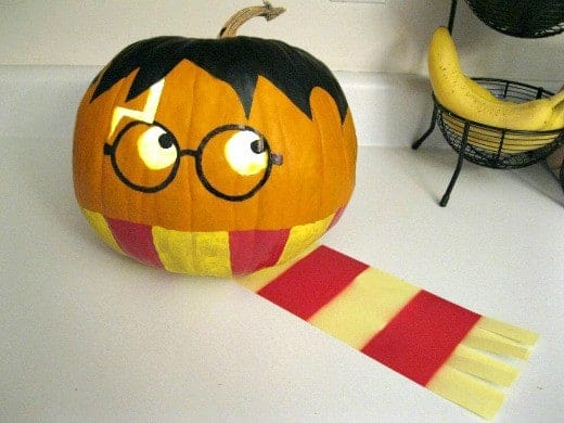 Harry Potter Pumpkin and other amazing no carve pumpkin ideas