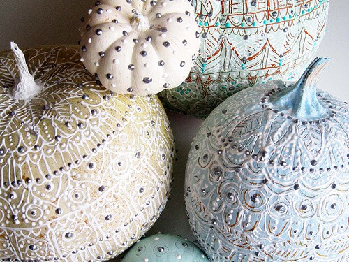 Pretty Painted Pumpkins by Alisa Bourke
