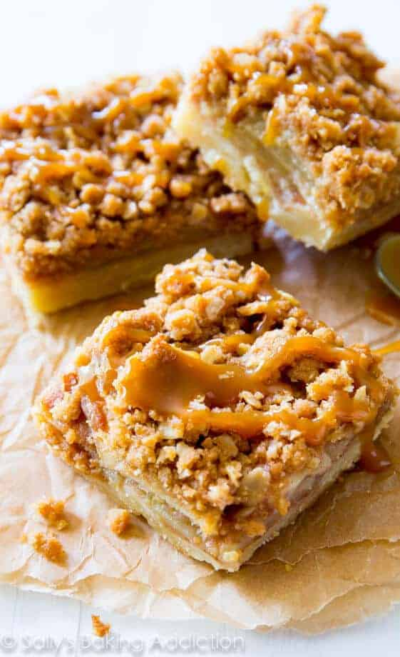 Salted Caramel Apple Pie Bars by Sally's Baking Addiction
