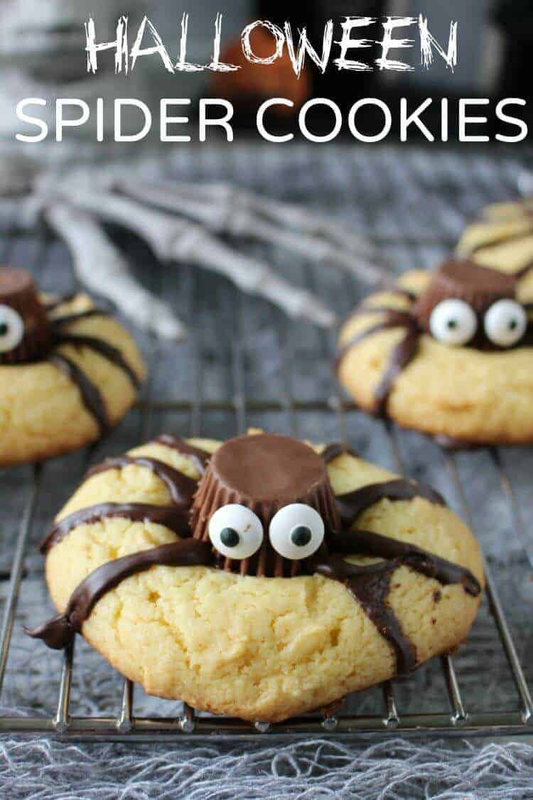 Easy Halloween Spider Cookies - Princess Pinky Girl