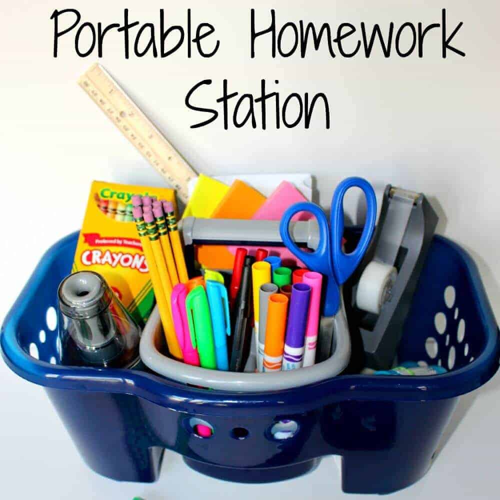 Homework Organization Caddy for Students - YouTube