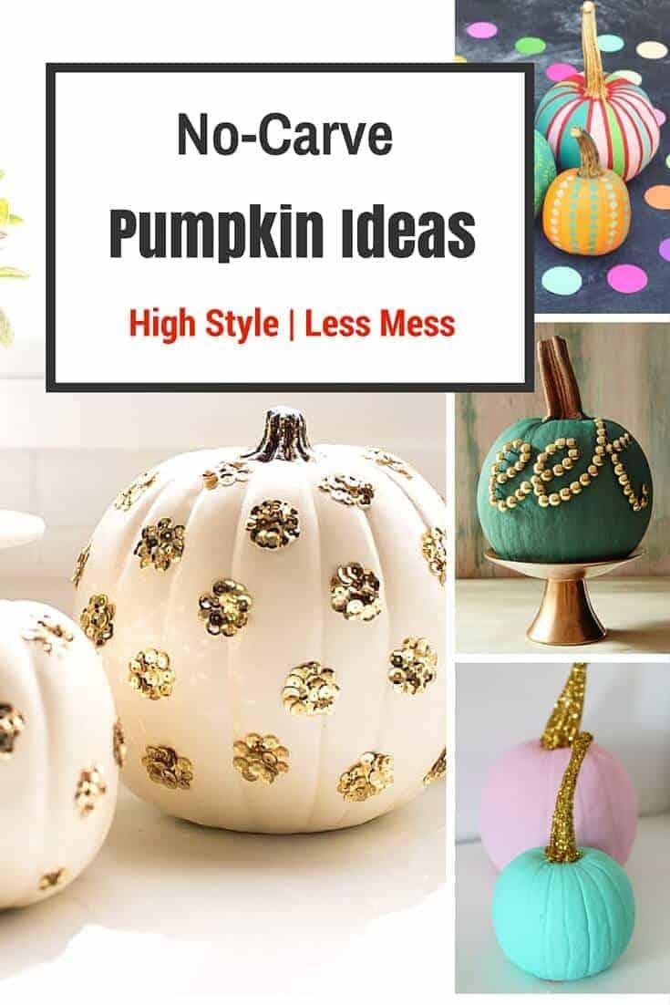 Most Stylish No-Carve Pumpkin Ideas - Princess Pinky Girl