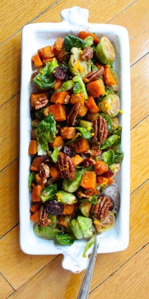Orange Glazed Brussel Sprouts by Heart Beet Kitchen