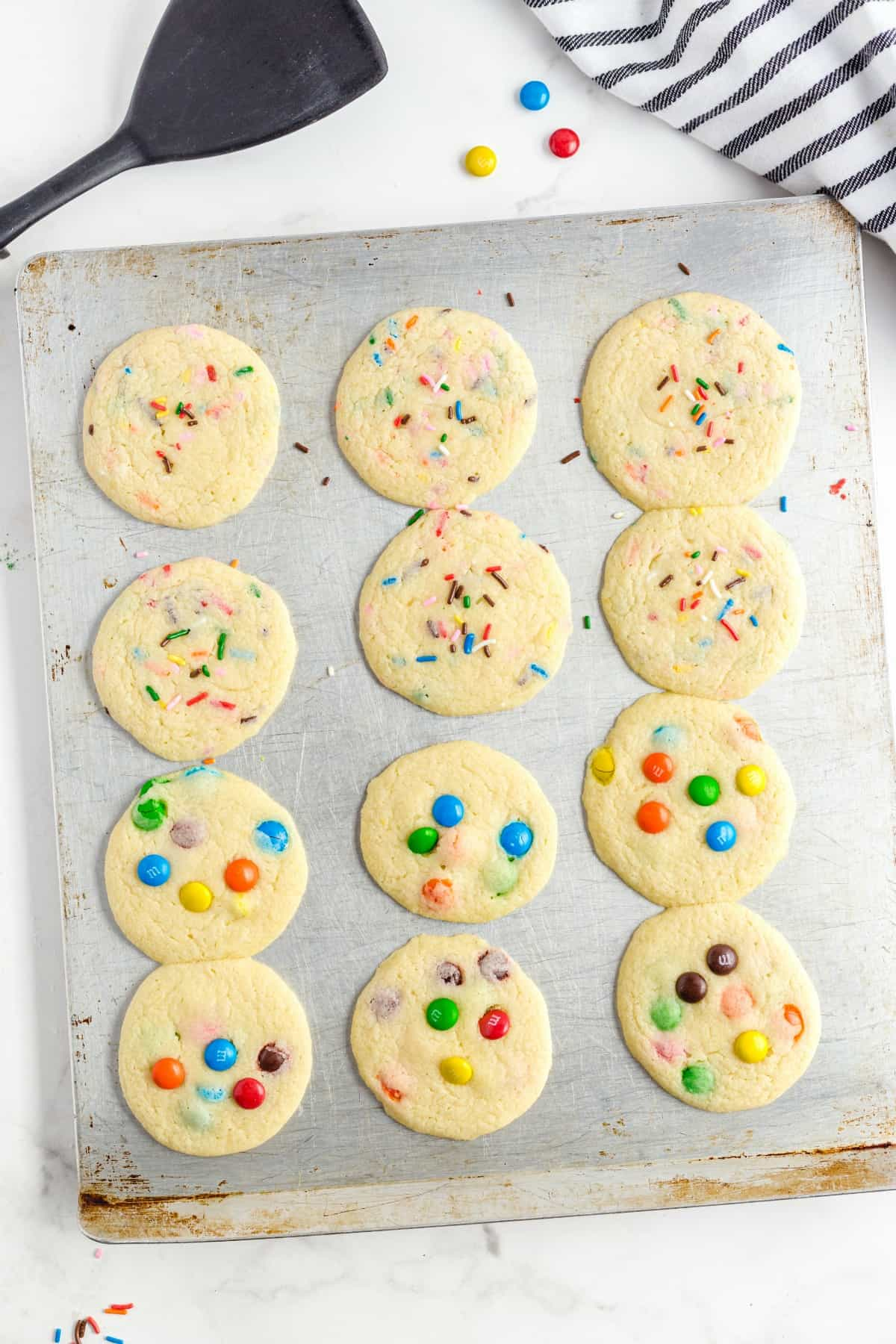 baked cookies on a tray