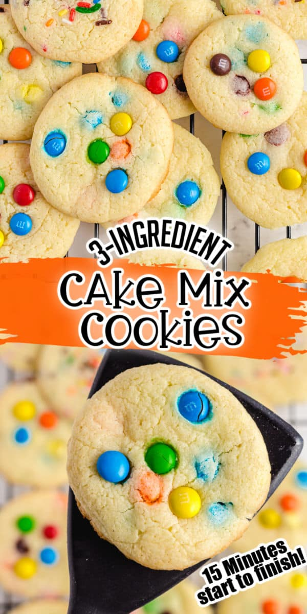 Cake mix cookies pinterest image