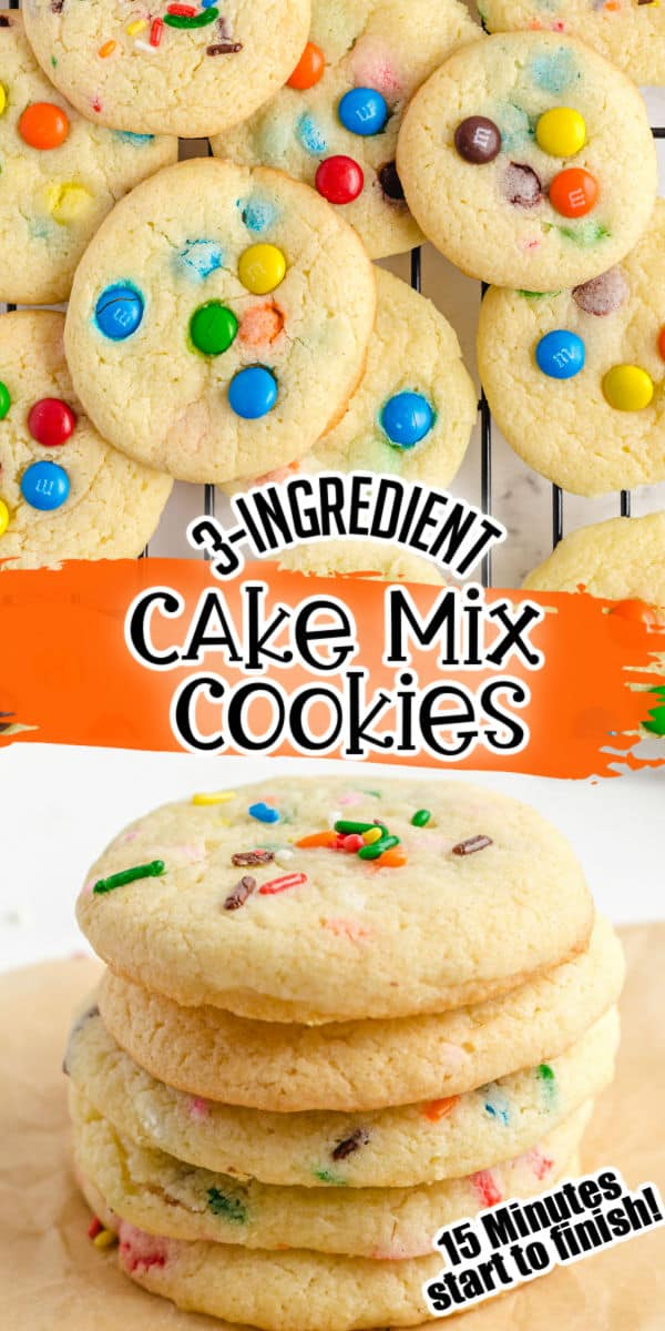 Cake mix cookies pinterest image
