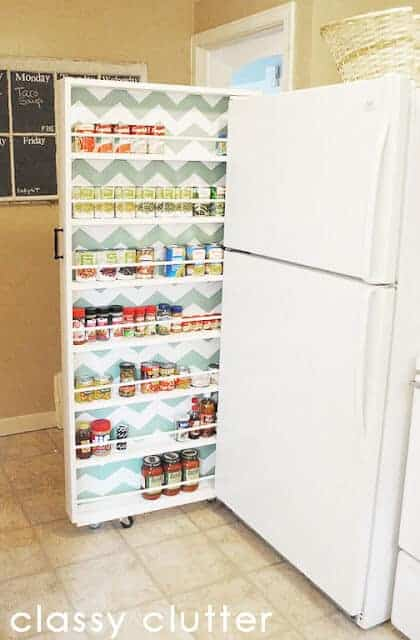 DIY Can Food Organizer by Classy Clutter