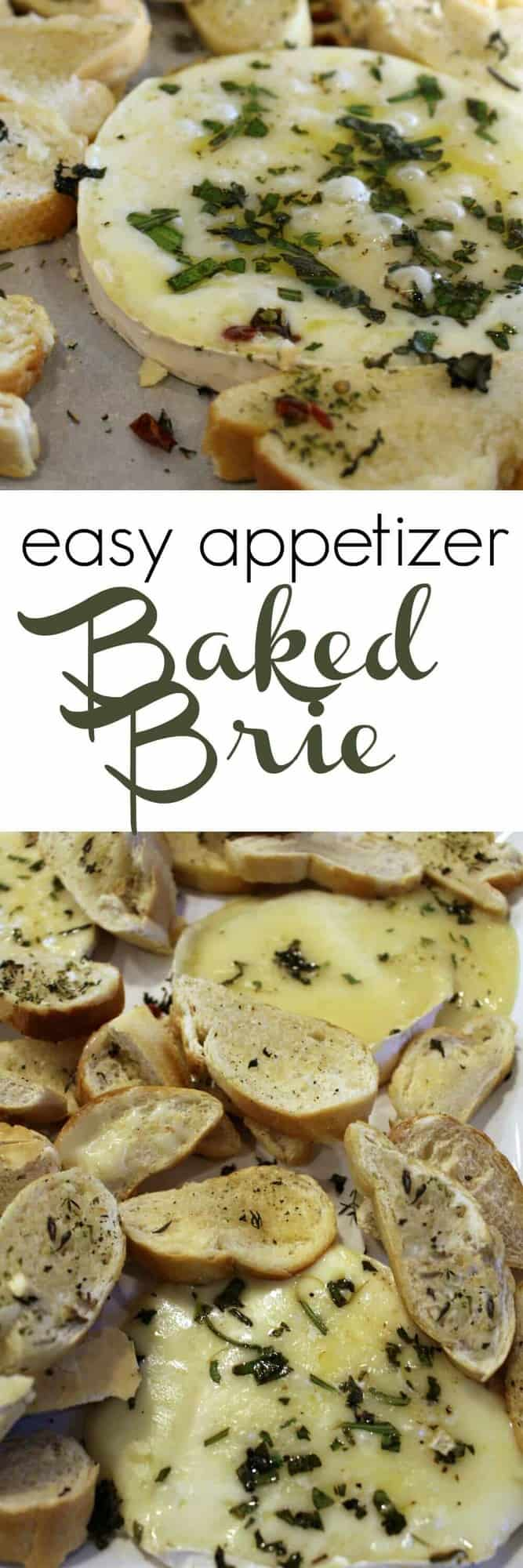 Baked Brie Appetizer and other easy Thanksgiving appetizers