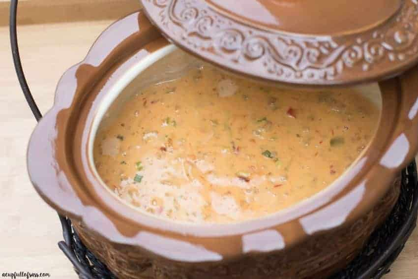 Easy Crockpot Nacho Cheese dip - the perfect appetizer to please a crowd
