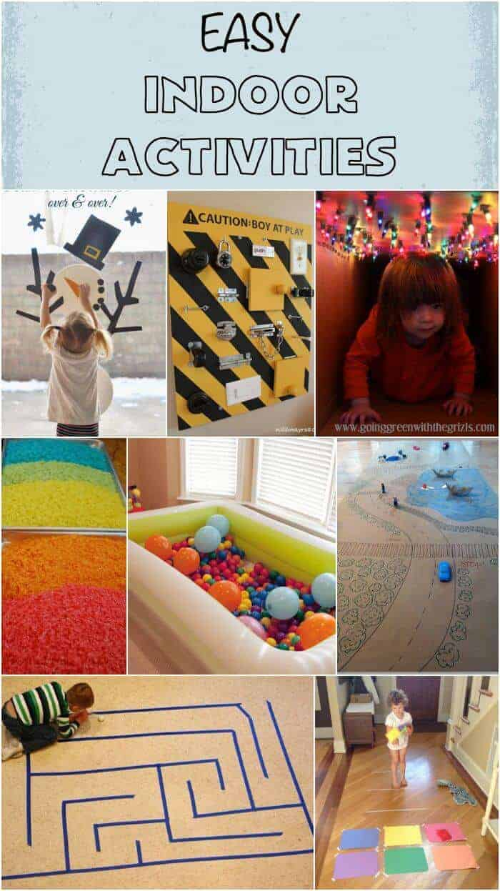 Easy Indoor Activities Rainy Day Activities Snow Day Fun For Kids