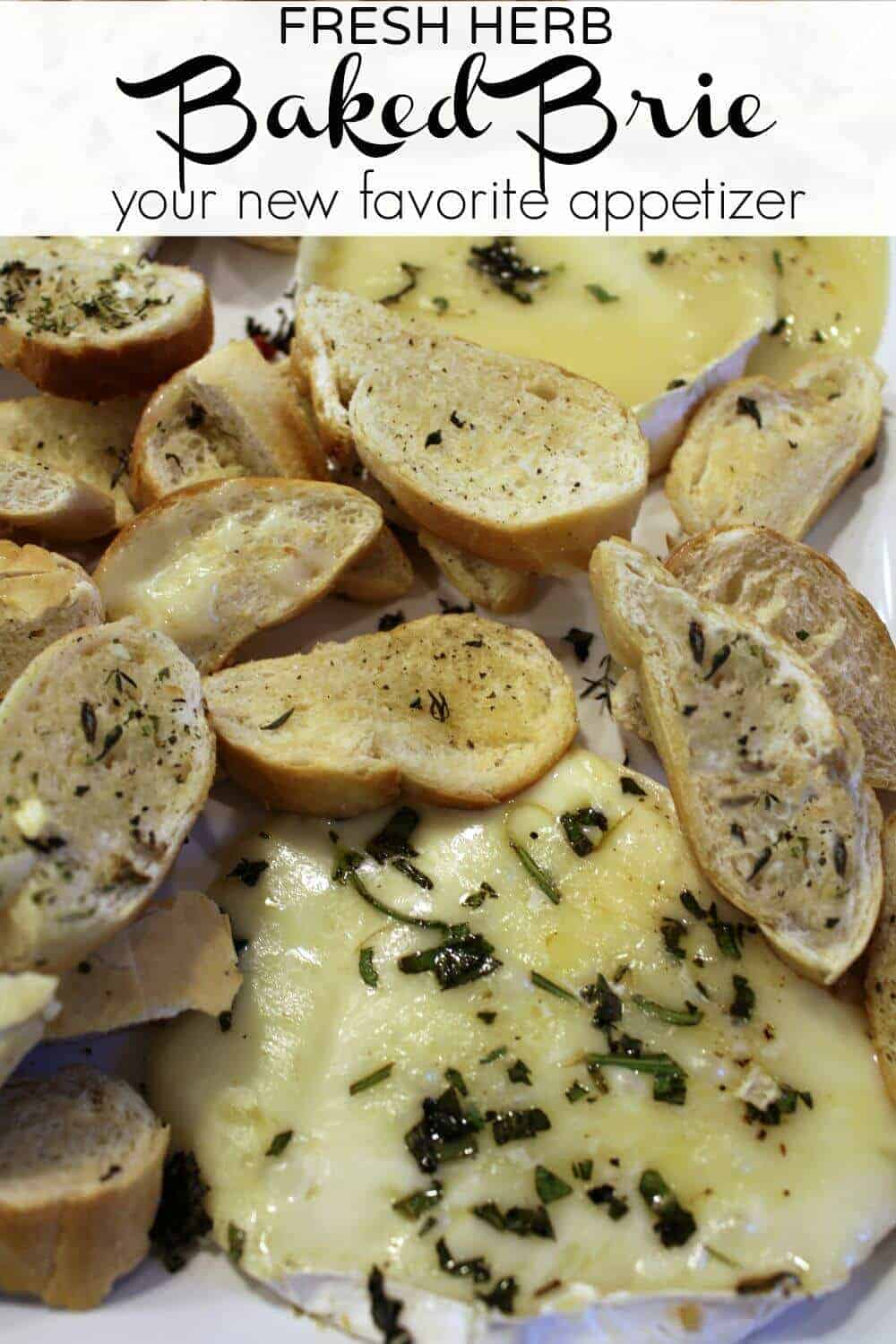 Fresh Herb Baked Brie Appetizer