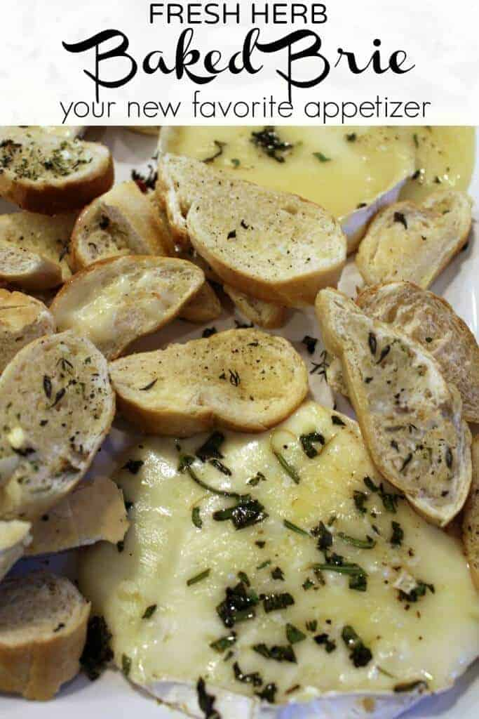 Fresh herb baked brie - your new favorite appetizer