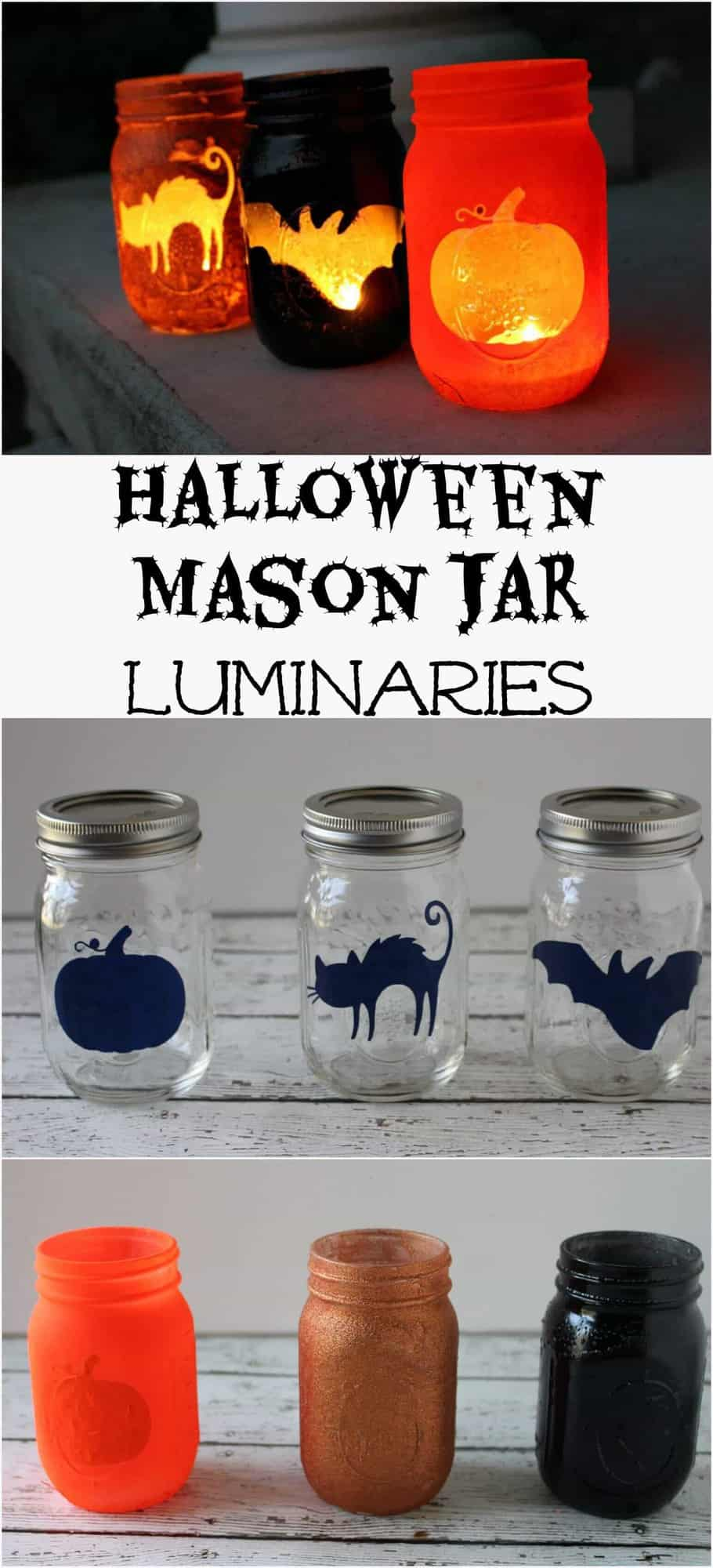 Halloween Mason Jar Luminaries Princess Pinky Girl