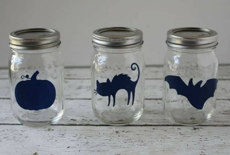 Halloween Mason Jars stickers