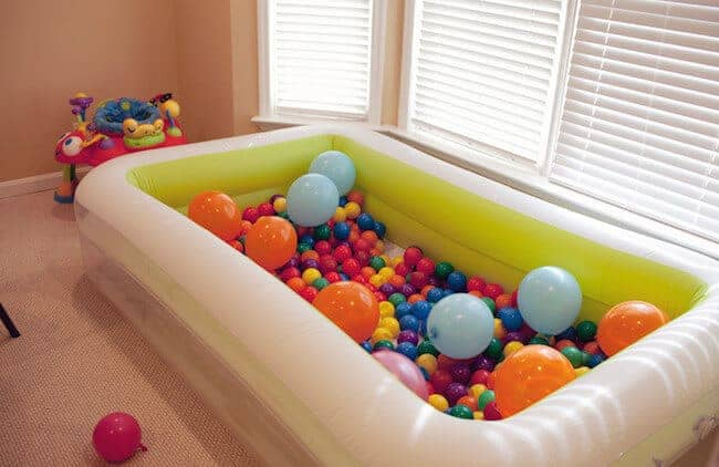 Make your own ball pit - super fun indoor activity!