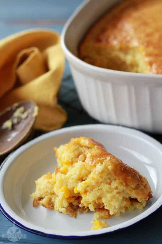 Sweet Corn Spoonbread by Southern Bite