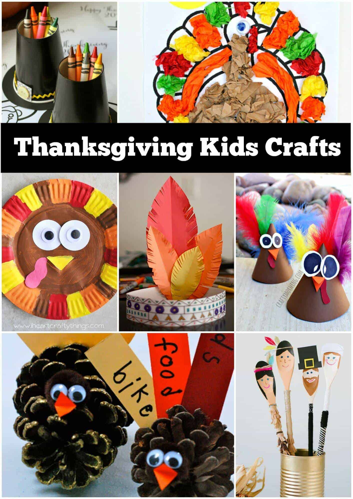 Thanksgiving craft ideas for kids page of