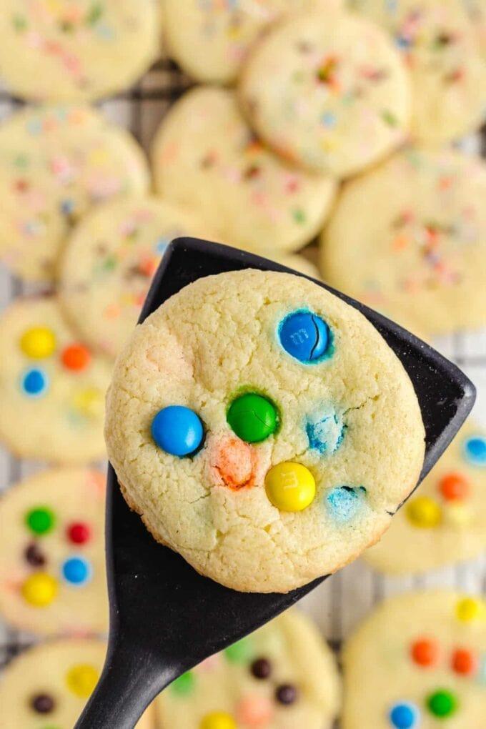 cookie on a spatula