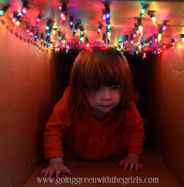 make an indoor light tunnel - great indoor activity