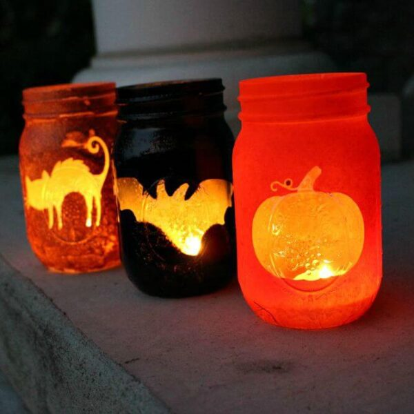 Halloween Mason Jar Luminaries