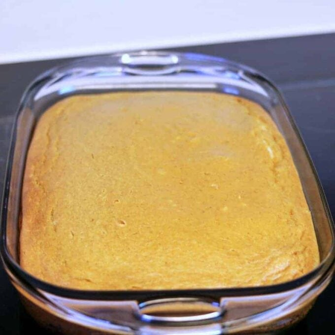 Pumpkin Butter Cake right out of the oven