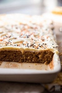 Whole Wheat Pumpkin Cream Cheese Bars
