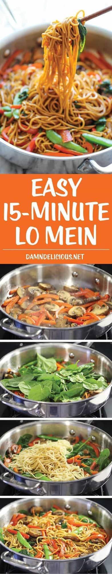 15 minute easy lo-mein