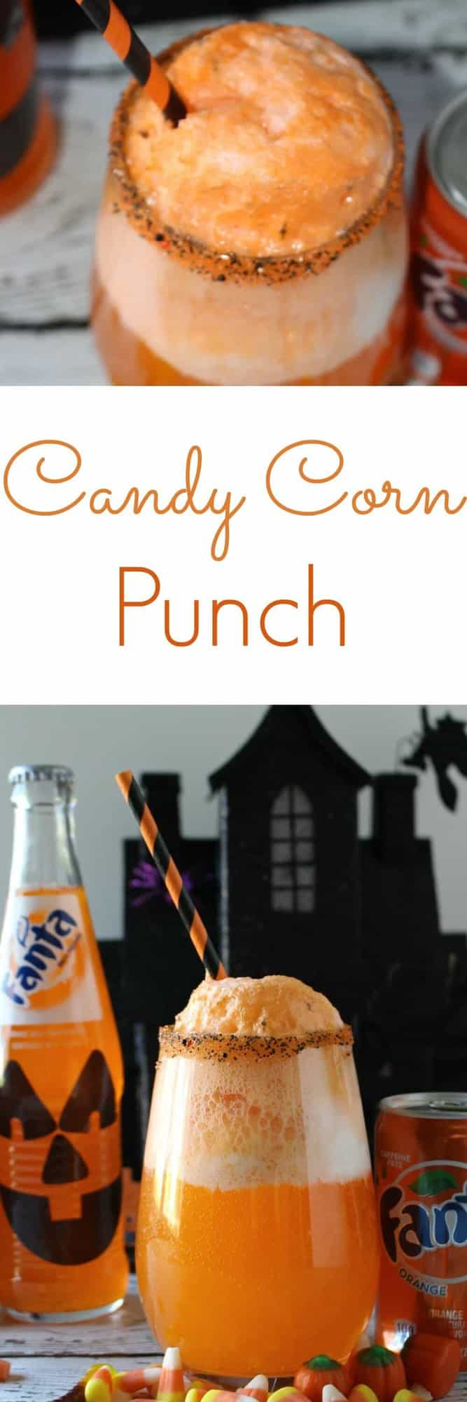 Halloween Candy Corn Punch - a spooktacular Halloween treat