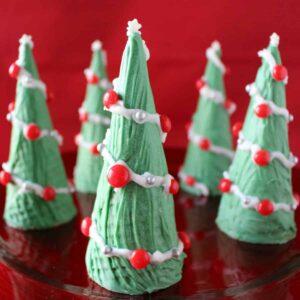 Ice Cream Cone Christmas Tree on a plate