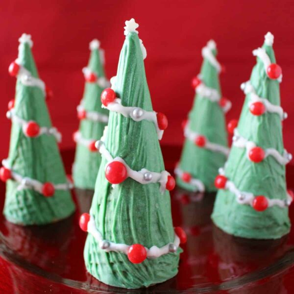 Ice Cream Cone Christmas Tree on a plate