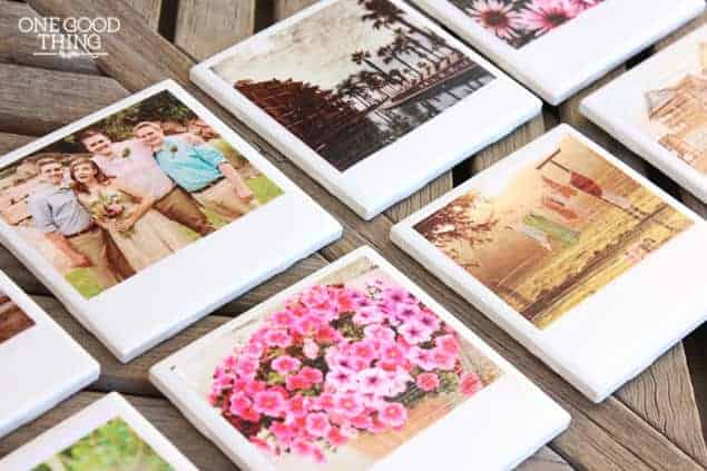 DIY Polaroid Photo Coasters by One Good Thing by Jillee