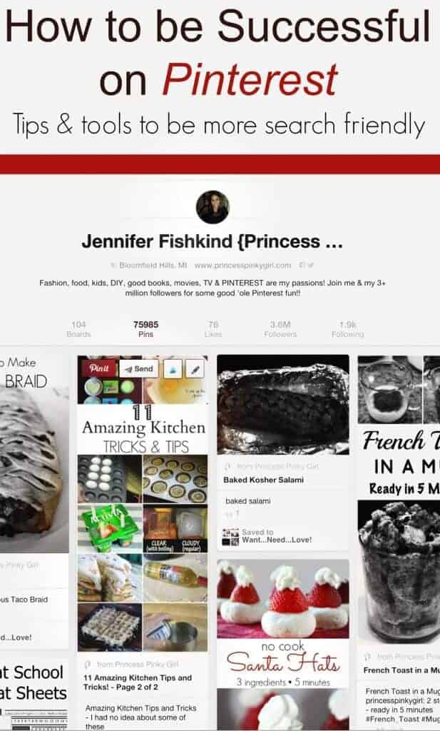 How to be more successful on Pinterest - tips and tools to be more search friendly